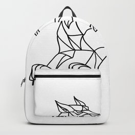 Lynx Prowling Black and White Mosaic Backpack