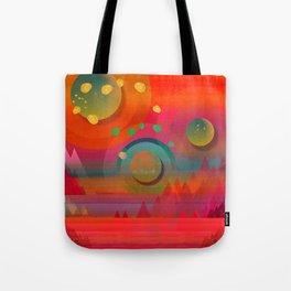 """""""Sci-fi Pop Landscape"""" Tote Bag"""