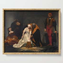 The Execution of Lady Jane Grey by Paul Delaroche, 1833 Serving Tray