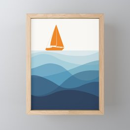 Blissful Boat Framed Mini Art Print
