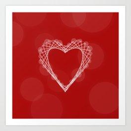 Spirograph Heart Art Print