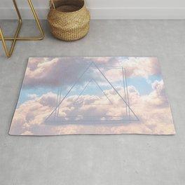 Geometric Clouds Rug