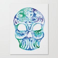 Watercolor Dia de la Mortes Canvas Print
