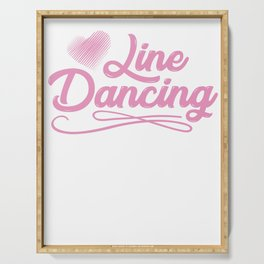 Line Dancing Serving Tray