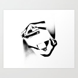 Spraying Hands Art Print