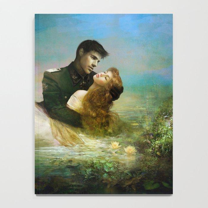 Love me tender - Sad couple in loving embrase in the lake Notebook