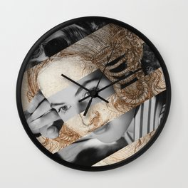 Leonardo Da Vinci's Head of Leda & Ingrid Bergman Wall Clock
