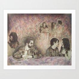 Watching Art Print