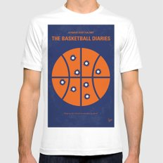No782 My The Basketball Diaries minimal movie poster MEDIUM White Mens Fitted Tee