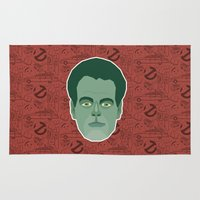 ghostbusters Area & Throw Rugs featuring Raymond Stantz - Ghostbusters by Kuki