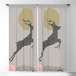 Deer Print, Woodlands Decor, Wall Art, Animals Print, Woodlands Nursery Art, Kids room Decor Blackout Curtain