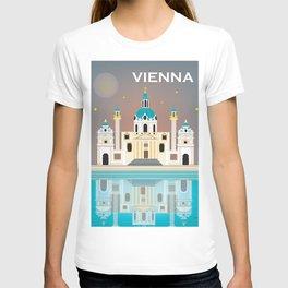 Vienna, Austria - Skyline Illustration by Loose Petals T-shirt
