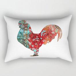 Stern Rooster Rectangular Pillow