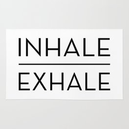 Inhale Exhale Breathe Quote Rug