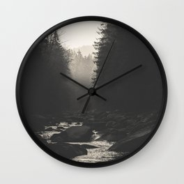 Morning river Wall Clock
