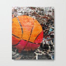 Basketball art swoosh vs 15 Metal Print
