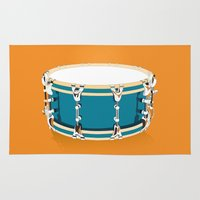 drum Area & Throw Rugs featuring Drum - Orange by Ornaart