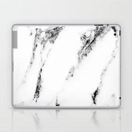 white marble no. 1 Laptop & iPad Skin