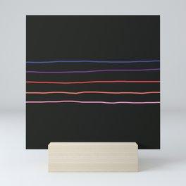 Abstract Retro Stripes #4 Mini Art Print