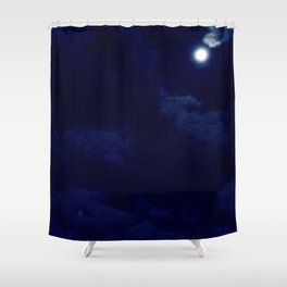 The night with a hazy moon Shower Curtain
