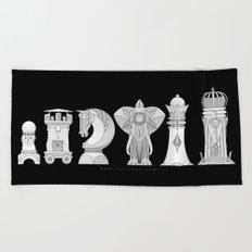 Modernist Chess Beach Towel