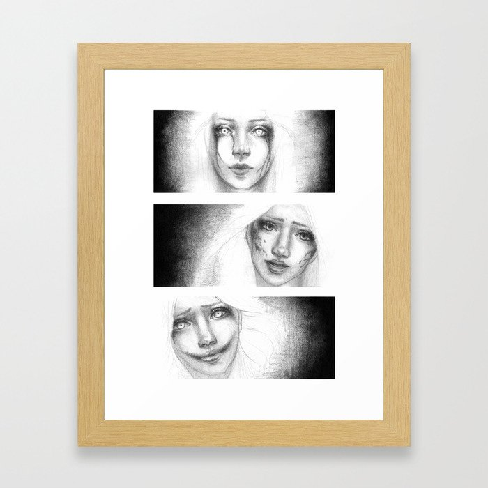 Three Evils Framed Art Print