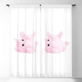 Light Pink Kitty Blackout Curtain