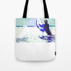 Surfing Devon Tote Bag