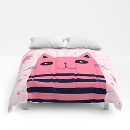Dreaming Kitty Comforters