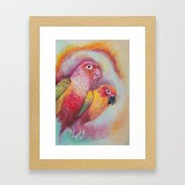 Bird and Birdy Framed Art Print