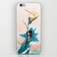 aang iPhone & iPod Skins featuring Katara and Aang by Imogen Scoppie