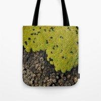 peru Tote Bags featuring 5000m // Peru by Memento Mori Studio