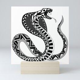 black king cobra ecopop Mini Art Print