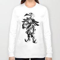 majoras mask Long Sleeve T-shirts featuring Skullkid / zelda / majoras mask by tshirtsz