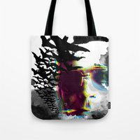 hunter s thompson Tote Bags featuring Hunter S by theCword