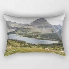 Overlooking Hidden Lake and BearHat Mountain Rectangular Pillow