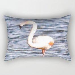 Just Like A Flamingo Rectangular Pillow
