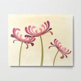 Mauve Chrysanthemums Metal Print
