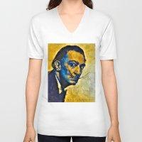salvador dali V-neck T-shirts featuring salvador by KrisLeov