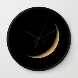 The Moon Sliver (Color) Wall Clock