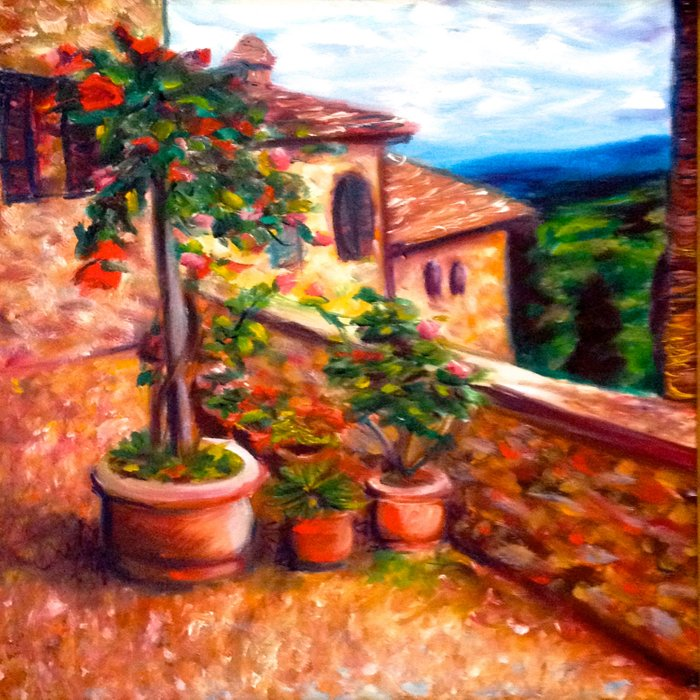 Little Tuscan Town Comforters