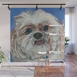 Ruby the Shih Tzu Dog Portrait Wall Mural