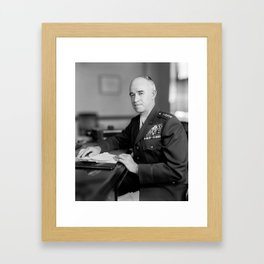General Omar Bradley Portrait Framed Art Print