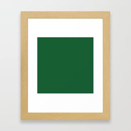 Green Bay Football Team Green Solid Mix and Match Colors Framed Art Print