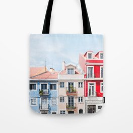 Colorful Buildings Tote Bag