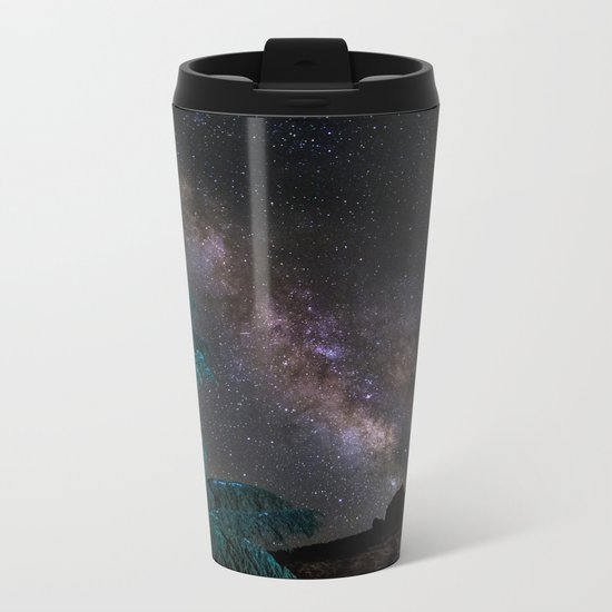 """Milky-way at the mountains"". Summer  Metal Travel Mug"