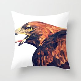Illustrator triangle low poly Throw Pillow