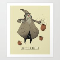 potter Art Prints featuring the potter. by Louis Roskosch