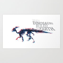 When Dinosaurs Ruled The Earth - Parasaurolophus Art Print