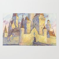 castle Area & Throw Rugs featuring Castle by Kasheva